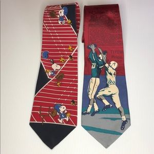 Two Vintage Football themed ties